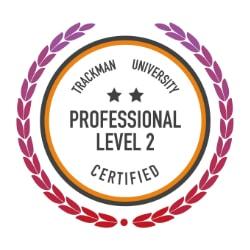 Trackman Level 2 badge